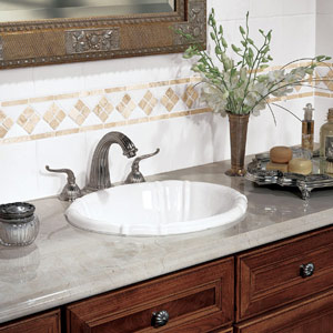 Marble Counter Top and StarMark Cabinetry