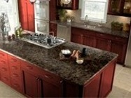 Corian Smokey Topaz Counter Top and StarMark Cabinetry